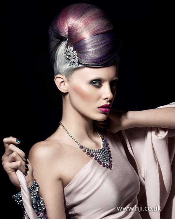 2013 pastel hair updo
