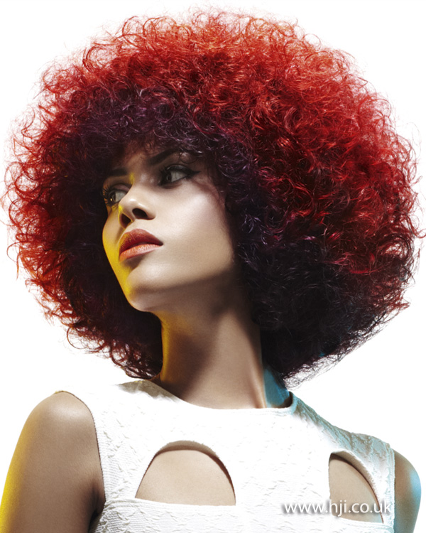 2013 red afro hair