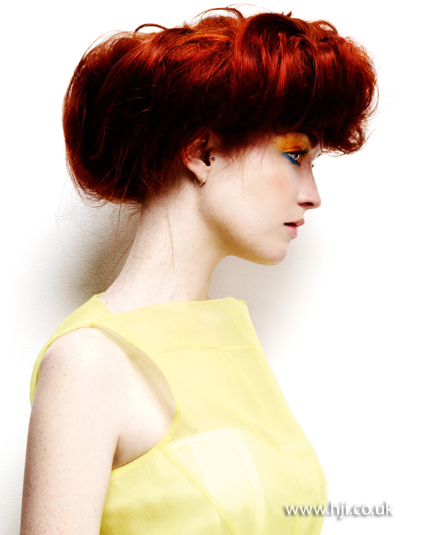 2013 red hair updo