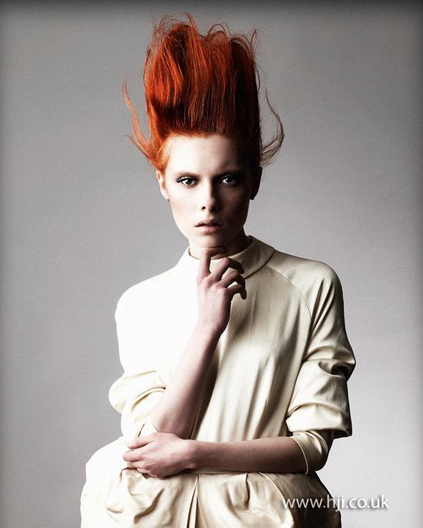 2013 redhead updo hair