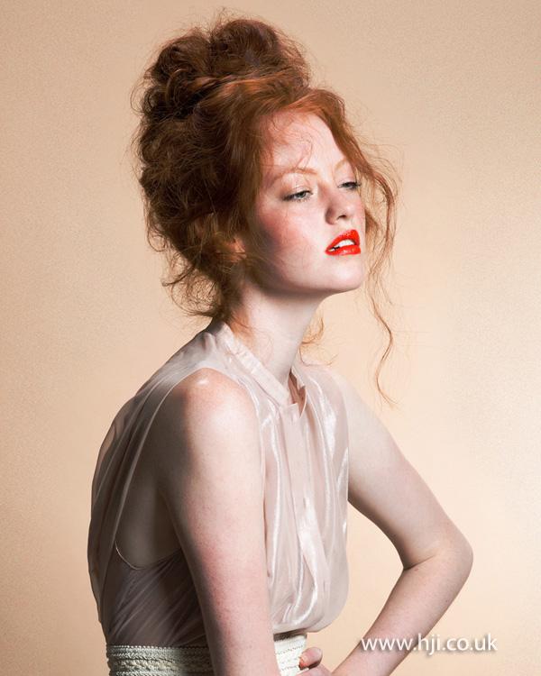 2013 redhead updo hair1