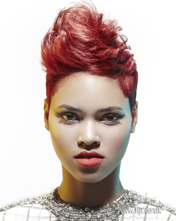 2013 short afro red
