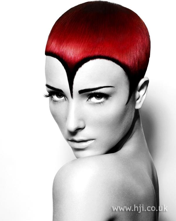 Red short avant garde style