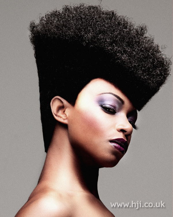 Afro flat top with severe sides