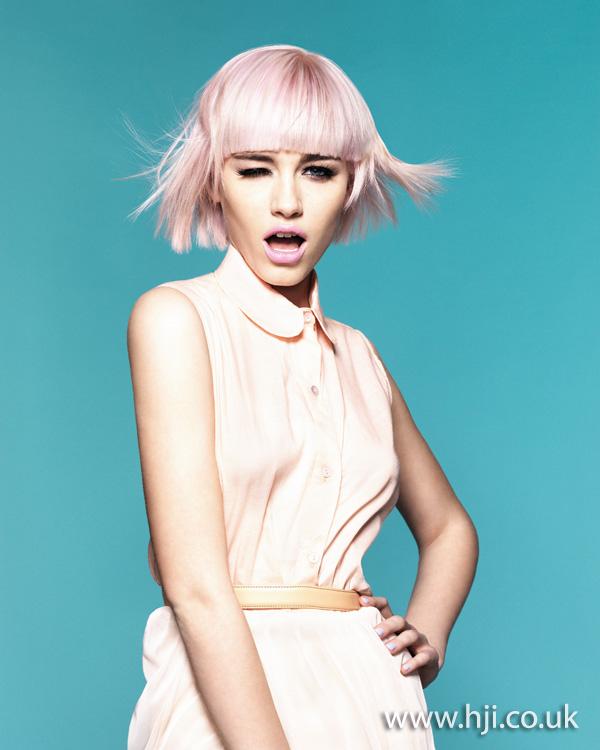 2013 pastel pink bob