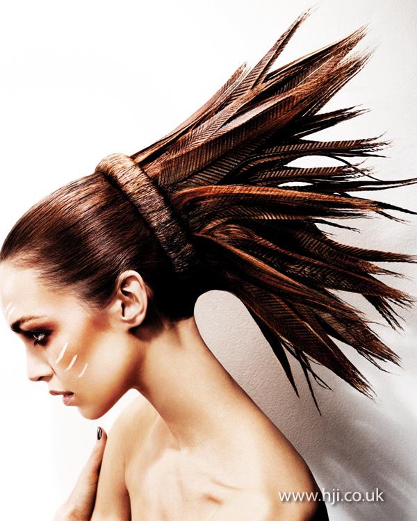 2013 feather headdress hair