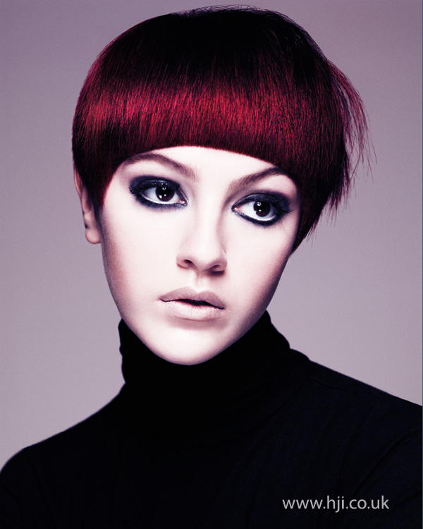 2013 red smooth short hair