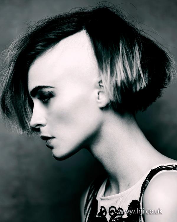 2013 shaved side hair bob