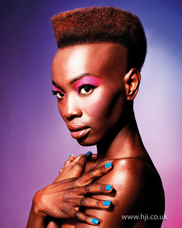 2013 short square cut afro hair