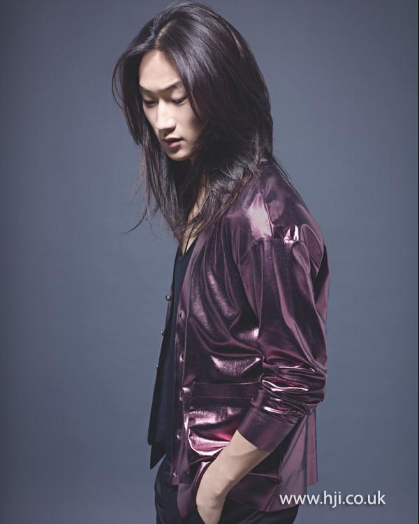 2014 men long metallic hairstyle