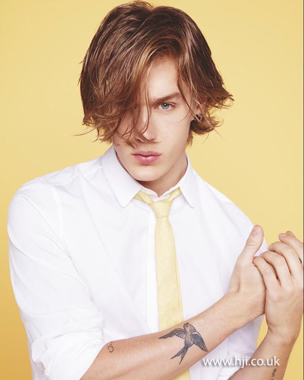 2014 men messy long hairstyle