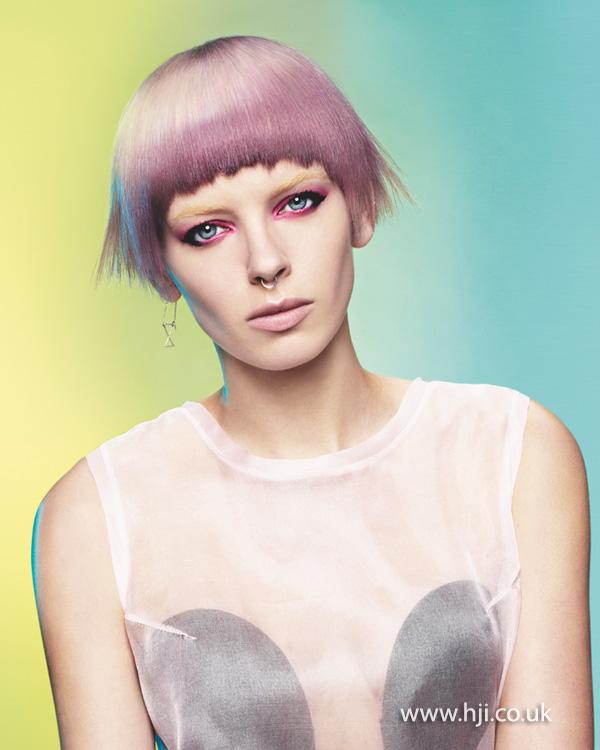 2014 women lilac short fringe