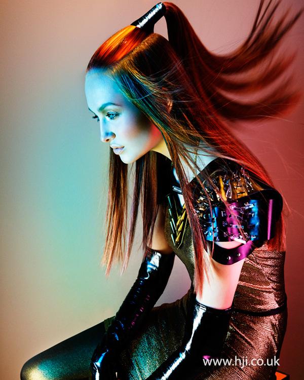 2014 creative multi coloured half ponytail