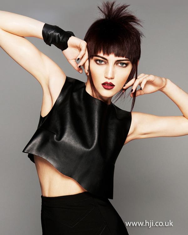 2014 futuristic brunette with fringe