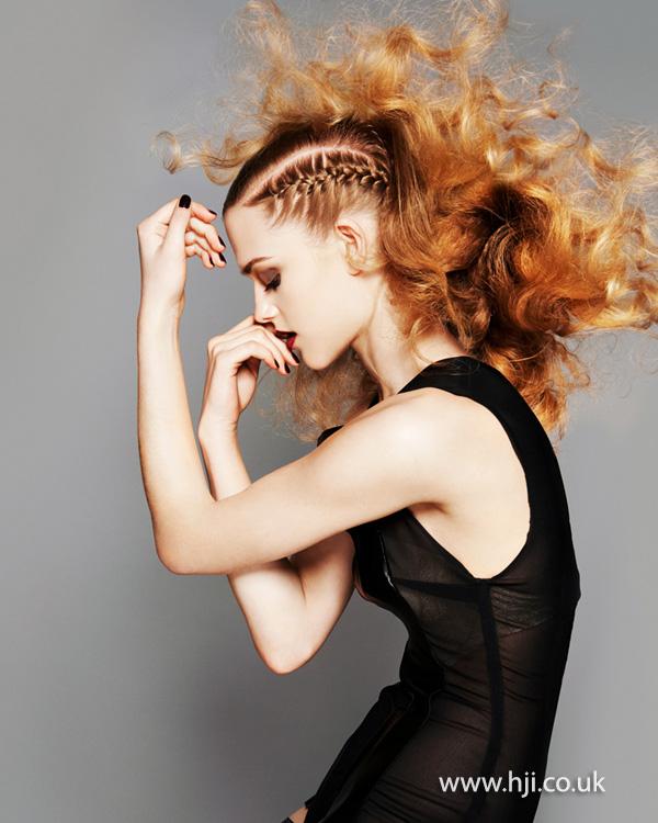 2014 golden volume curls plaits