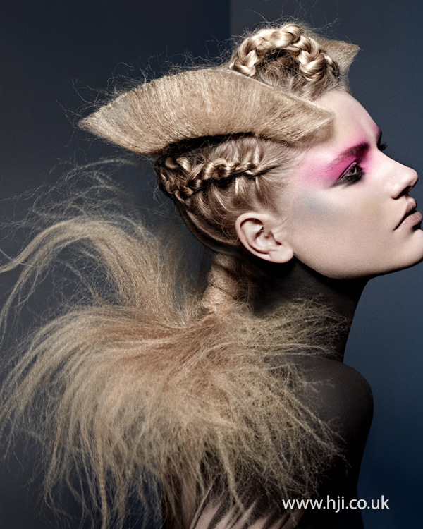 2014 textured avant garde blonde