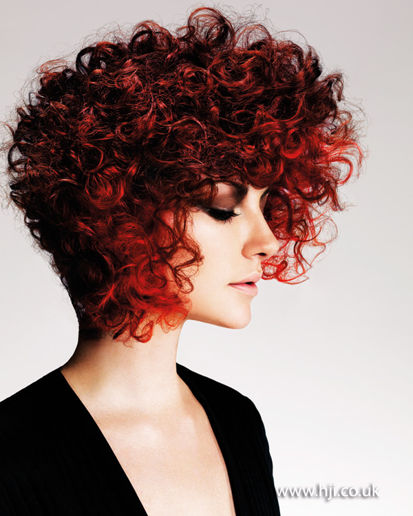 2014 textured red curls