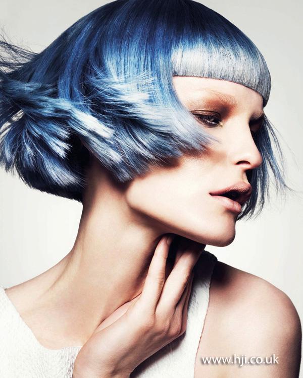 2013 blue bob blunt fringe