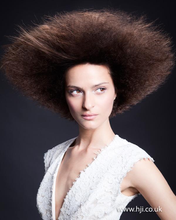 2013 brunette textured volume