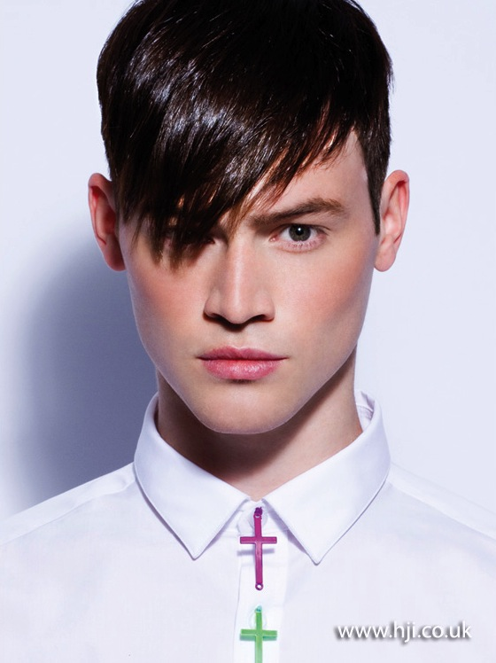 2013 mens side fringe brunette