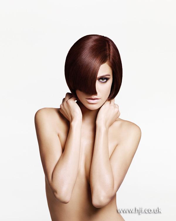 2013 rich brunette smooth bob
