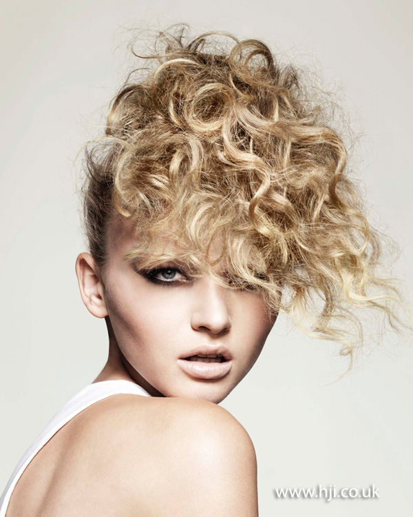 2013 textured curls updo