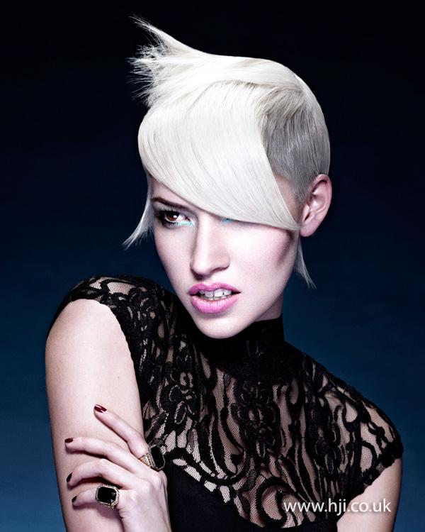2014 blonde long fringe short sides