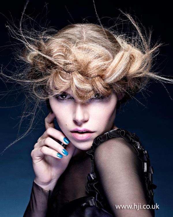 2014 blonde textured front braid