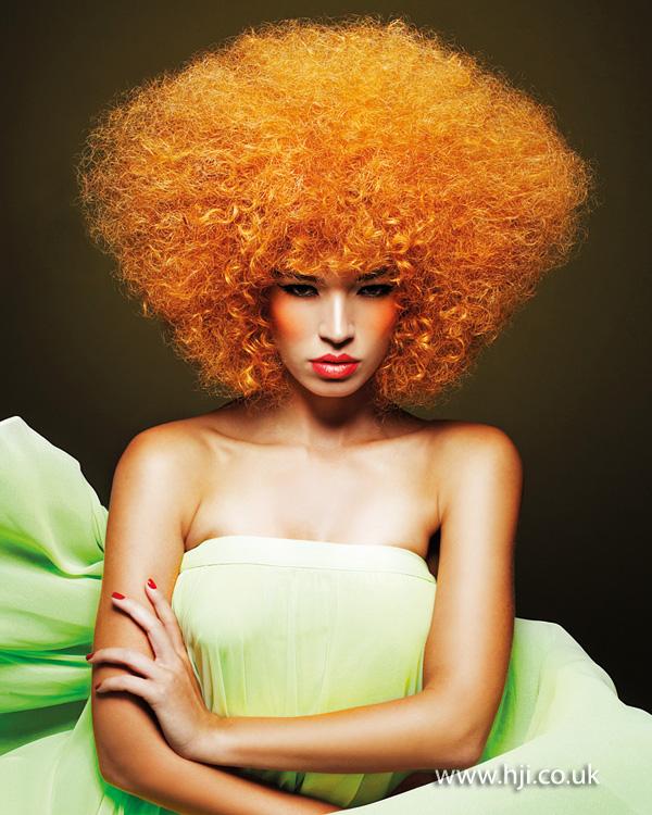 2014 bright orange afro