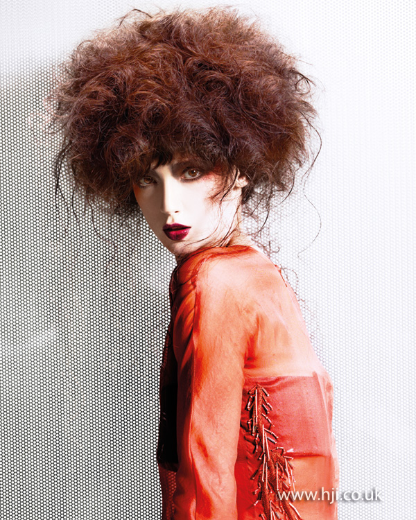 2014 brunette textured curls