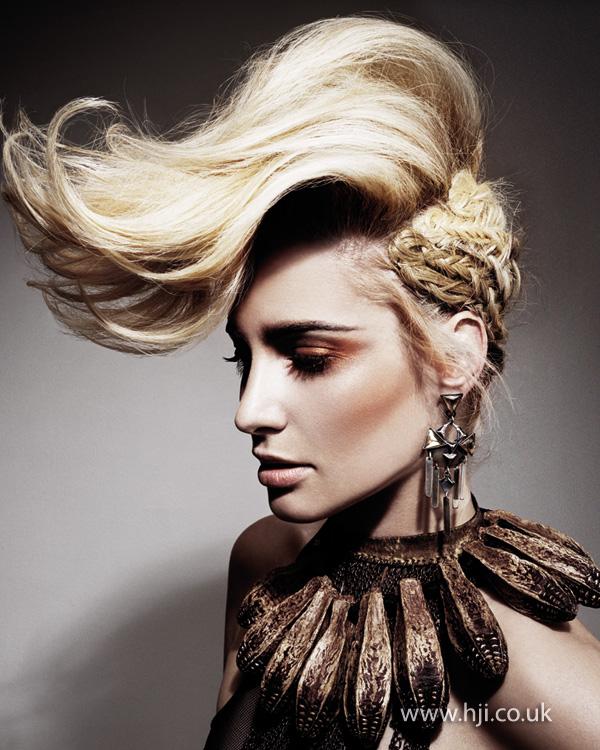 2014 extreme blonde quiff plaits