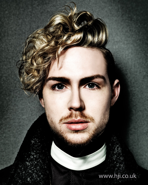 2014 mens blonde modern tousled curls