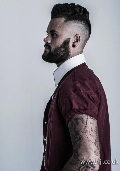 2014 mens close shaved sides long ontop