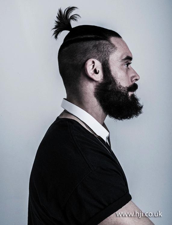 2014 mens short ponytail ontop shaved sides