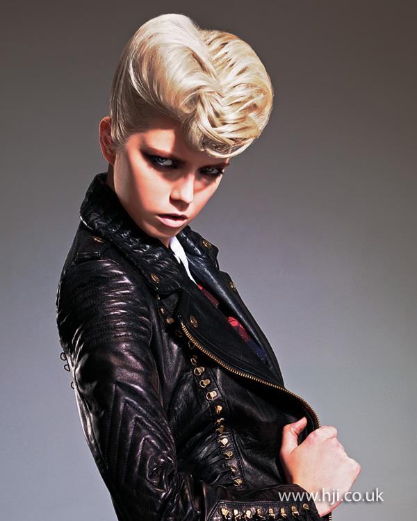 2014 rockabilly blonde woven updo