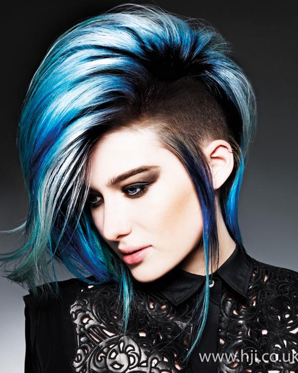 2014 vibrant blue volume undercut