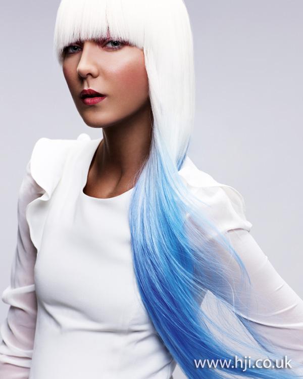 2013 blue and white hair
