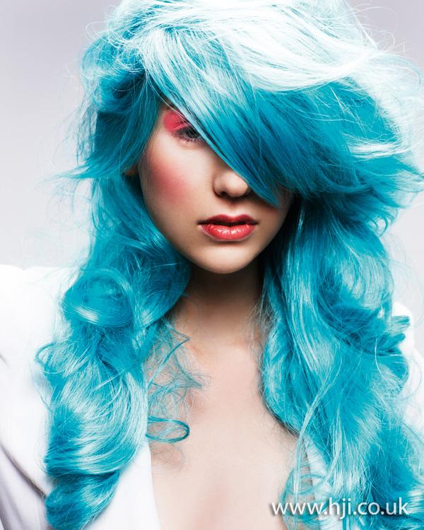 2013 long blue hair