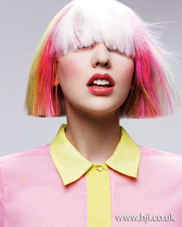 2013 rainbow bob hair