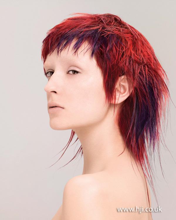 2014 textured red short fringe