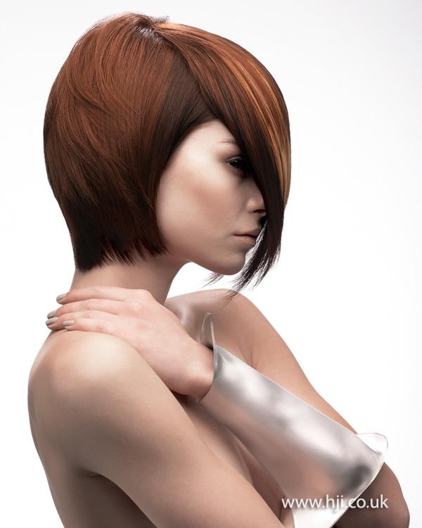 2013 brunette bob long side fringe
