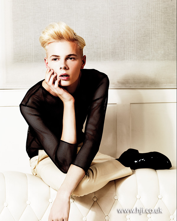 2013 mens blonde soft quiff