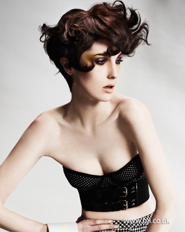 2013 textured short brunette curls