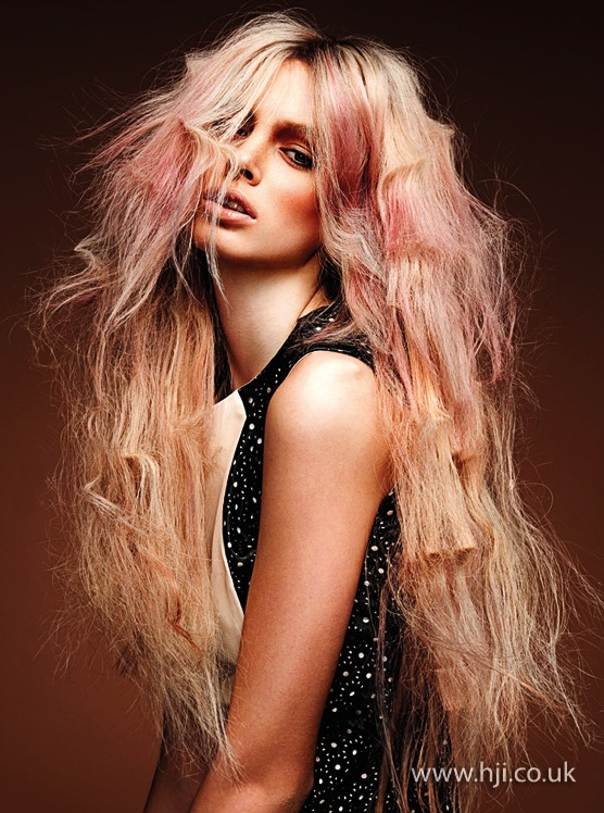 2014 textured blonde pink long