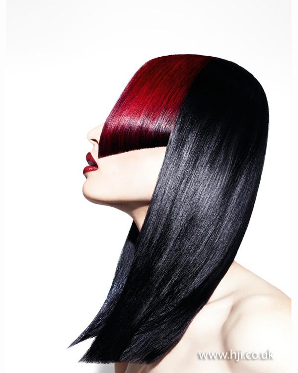 2013 black red sharp lines