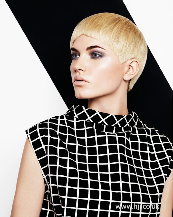 2013 blonde geometric lines