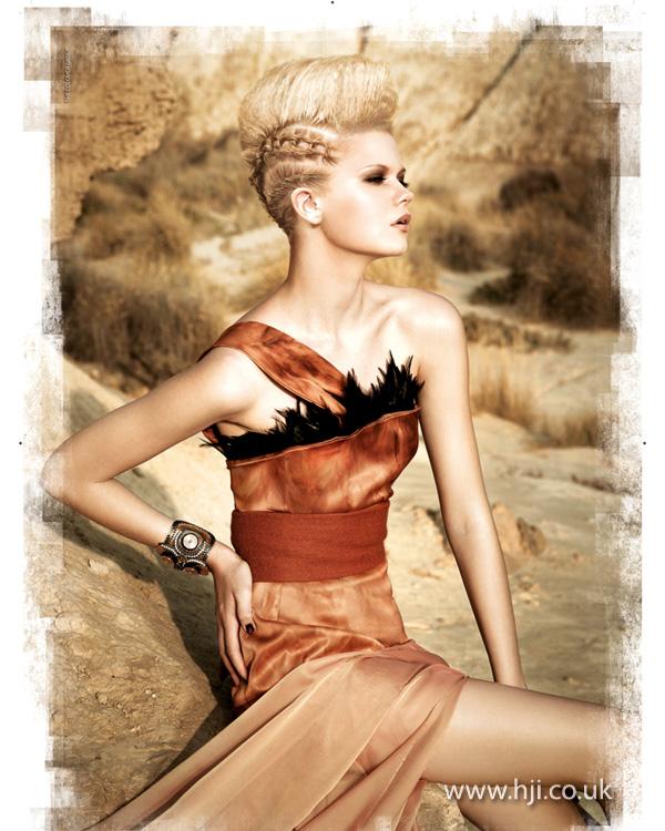 2013 blonde plaits quiff