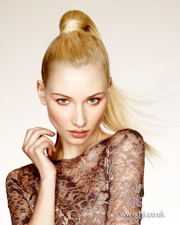 2013 blonde ponytail long