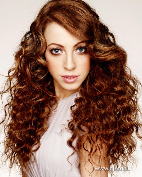 2013 brunette long tight curls