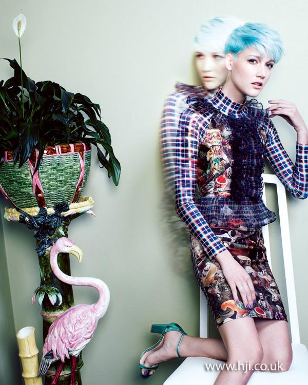 2013 bubblegum blue hair